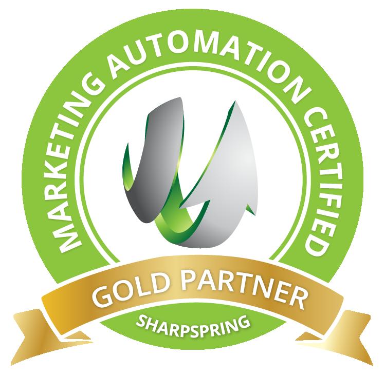 gold partner sharpspring badge
